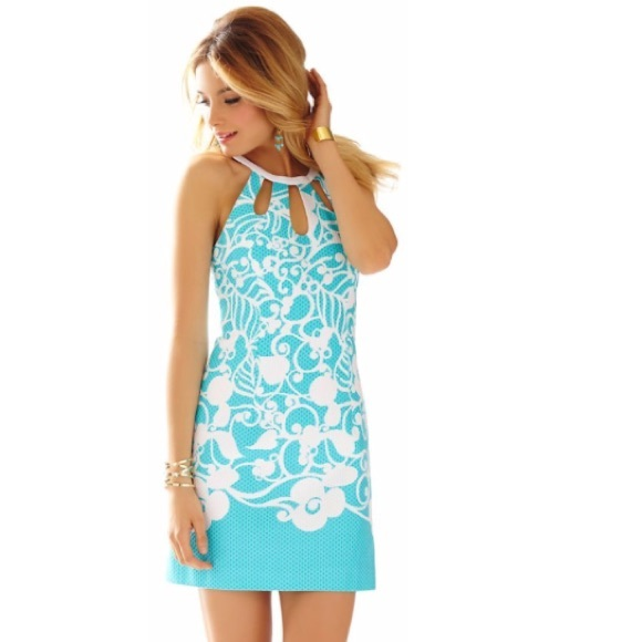 6b83edca859420 Lilly Pulitzer Dresses | Pearl Cutout Halter Shift Dress | Poshmark